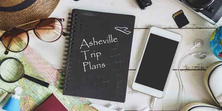 travel book on map