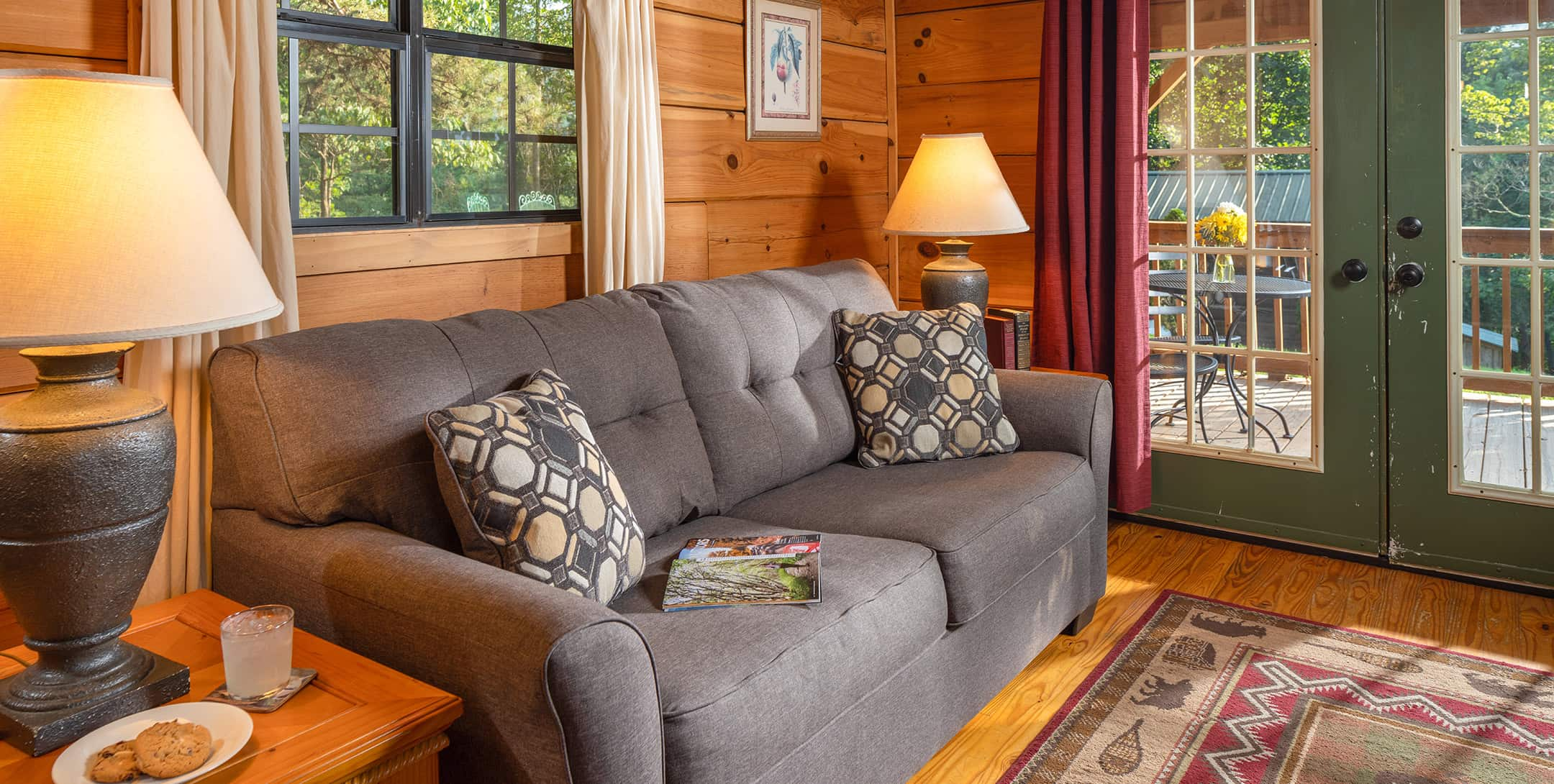 Looking Glass Mountain Cabin couch