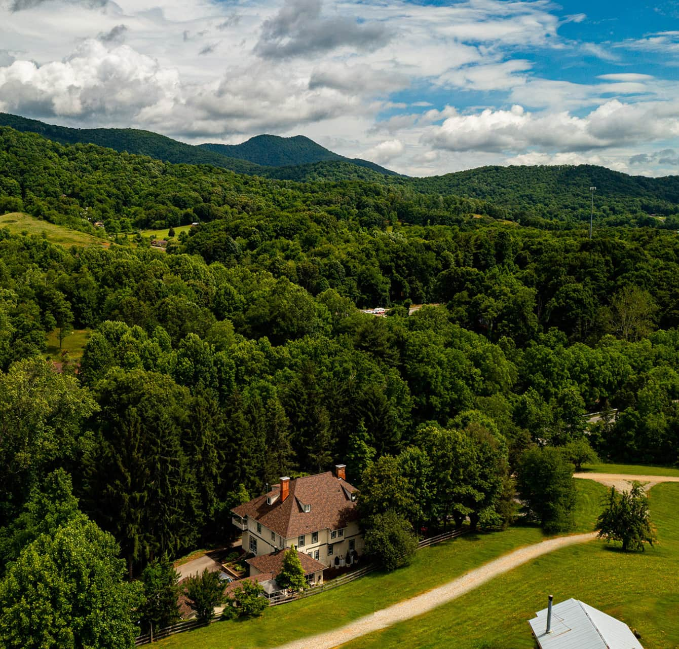 view at our bed and breakfast near Asheville